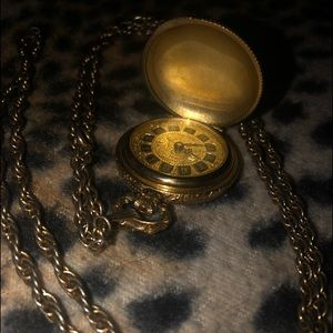 Vintage Sears Brass Pocket Watch